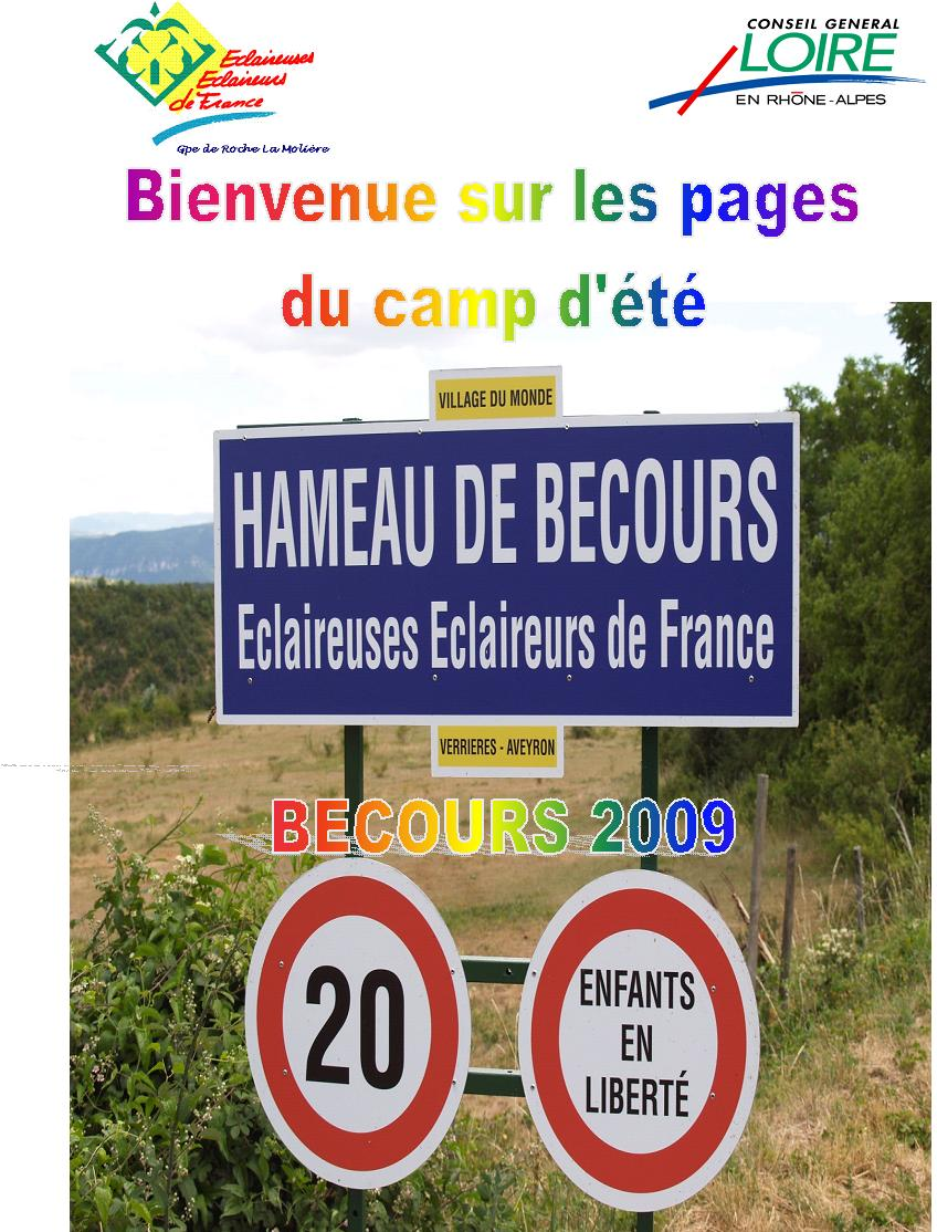 acces camp ete becours 2009